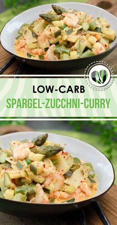 Das Spargel-Zucchini-Curry ist Low Carb, glutenfrei super lecker und einfach in der Zubereitung.