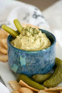 Dill Pickle Hummus is the perfect way to satisfy your craving. Chickpeas, dill pickles, and tahini make this a healthy snack you'll have trouble sharing.