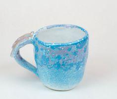Ceramic blue coffee tea cup ceramic mug handmade by PotterAsh #cup #mug #ceramic #etsy #tea #coffee #handmade #trend #art #gift #2016 #potterash #чашка #керамика #кофе #рукотворный #кружка