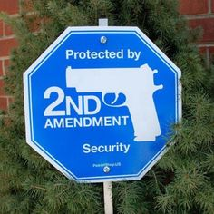 Security - we need this sign (do they make one with a picture of a shot gun on it?) lol
