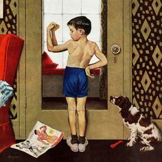 Young Charles Atlas by George Hughes Painting Print on Wrapped Canvas