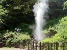 かんけつ泉が噴出しているところです。