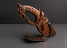 Magnificent Horse & Jockey Carved Stirrup Adze - EXCELSIOR 95442 - AS – Jim Bode Tools