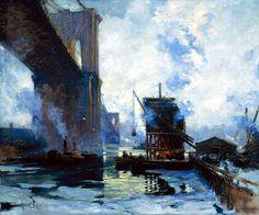 Lie, Jonas (1880-1940) - 1911-12 Morning on the River (Memorial Art Gallery, University of Rochester, USA) by RasMarley, via Flickr