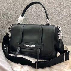 3ee413c4ec5 Miu Miu Grace Lux Leather Shoulder Bag 5BD078 Black 2018