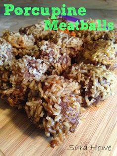 A childhood favorite!! Porcupine Meatballs, perfect kid friendly meal