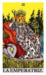 The Empress Tarot card is one of the 22 Major Arcana Tarot cards. Here you'll find the Empress Tarot Card Meaning when it shows up in a Tarot Reading. Major Arcana Cards, Tarot Major Arcana, Tarot Rider Waite, Tarot Gratis, Tarot Card Spreads, Online Tarot, Tarot Astrology, Tarot Learning, Tarot Card Meanings