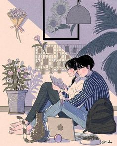 This Korean Artist Giving Serious Through His Illustration Drawing amor boy dark manga mujer fondos de pantalla hot kawaii Cute Drawings Of Love, Cute Couple Drawings, Cute Couple Art, Anime Love Couple, Paar Illustration, Couple Illustration, Art Anime, Anime Kunst, Manga Anime
