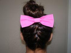 Pink Hair Bow by LittleBowElise