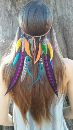 Bird of Paradise 2.1  Feather headband native by dieselboutique