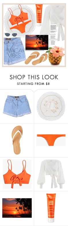 """""""Beach Please: Vacay Outfit"""" by bxbyyniya ❤ liked on Polyvore featuring The Beach People, Charlotte Russe, Madewell, Zimmermann, Hampton Sun, BeachPlease and vacayoutfit"""