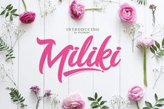Miliki Script (Extra) by khurasan on @creativemarket
