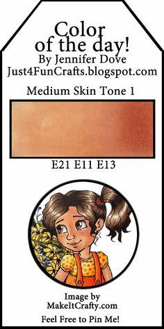 Medium skin tone, copic pens