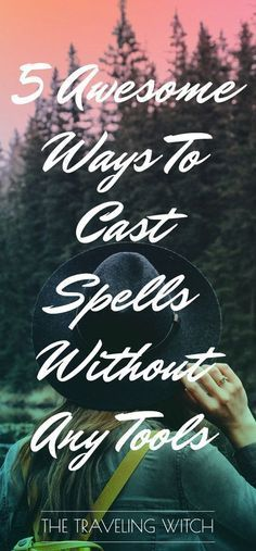 5 Awesome Ways To Cast Spells Without Any Tools // The Traveling Witch - Pinned by The Mystic's Emporium on Etsy Traditional Witchcraft, Witchcraft For Beginners, Under Your Spell, Eclectic Witch, Hedge Witch, Wicca Witchcraft, The Worst Witch, Magic Spells, Luck Spells