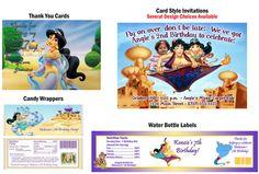 Princess Jasmine Aladdin ~ Birthday Party Ticket Invitations, Supplies