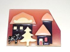 Lucinda House Pin Cow Barn Tree by victoriajamesdesigns on Etsy