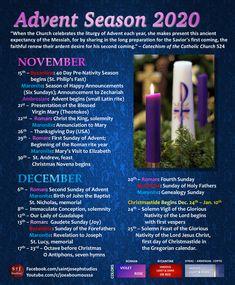 Includes Roman, Ambrosian, Byzantine, and Maronite dates for Advent.