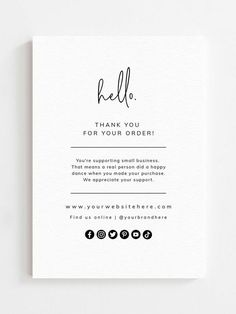 Small Business Cards, Business Thank You Cards, Thank You Card Design, Thank You Card Template, Graphisches Design, Logo Design, Business Branding, Business Card Design, Clothing Packaging