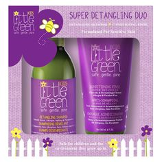 Little Green Kids Super Detangling Duo Set of 14 oz - Burnt Oran Tech Gifts, All Gifts, Christmas Tree Wreath, Baby Sale, Beauty Box, Conditioner, Shampoo, Cleanses, Locks