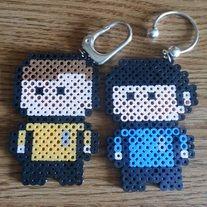Star Trek Kirk and Spock keyrings perler beads by  Wintermoon Crafts