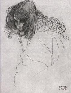 Gustav Klimt: Study for Lewdness from the Beethoven Frieze, 1898.