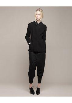 *note: Black harem pants, black collar shirt, black blazer, and black melissa oxfords.