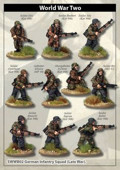 Buy Late War German Infantry Section I (in smocks) online Action Painting, Painting Tips, Bolt Action Game, Bolt Action Miniatures, Mighty Power Rangers, Plastic Soldier, 28mm Miniatures, Wargaming Terrain, Military Modelling