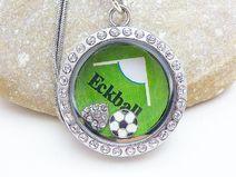 Kette Floating Charms  Halskette Fußball
