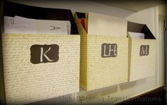 Cereal Box Mail Organizers