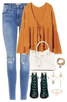 """""""Untitled #4347"""" by magsmccray ❤ liked on Polyvore featuring Frame, Gianvito Rossi, Prada and Mulberry"""