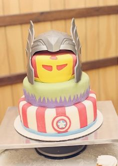 Avengers Groom's Cake - Congratulations Thomas & Kelly! By Badabing Cakes