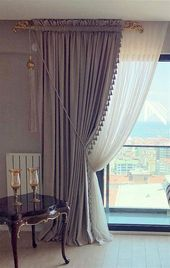 Stylish curtains are an important part of home decor-pa … Beige Living Room Furniture, Beige Living Rooms, Living Room Furniture Arrangement, Living Room Interior, Living Room Decor, Curtain Ideas For Living Room, Shabby Chic Curtains, Home Curtains, Rustic Curtains