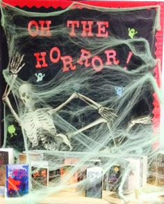 Oh, the horror! Book genre display at West Forsyth High School, Georgia