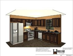 10X10 Kitchen Layout Ideas  Home Design And Decor Reviews  For Simple 10 X 10 Kitchen Designs 2018