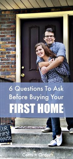 Buying Your First Home? 6 Financial Questions To Ask First There's so much to think about when buying your first home! Consider these six questions before you buy your first house to ensure you are financially prepared for the costs of home ownership. Home Buying Tips, Buying Your First Home, Short Term Loans, First Time Home Buyers, Frugal Living Tips, Financial Literacy, Financial Peace, Home Repairs, Home Ownership