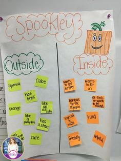 Character Traits with Spookley the Square Pumpkin.