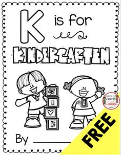K is for Kindergarten! FREE First Day of School Kindergarten Class Book – A My Name is Alice Book activity – freebie printable activity for the first day of school – first week in kindergarten alphabet activity – back to school Kindergarten First Week, Alphabet Activities Kindergarten, Kindergarten Freebies, First Day Of School Activities, Kindergarten Lesson Plans, 1st Day Of School, Kindergarten Writing, Kindergarten Classroom, Book Activities