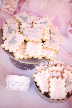 Biscoitos para festa bailarina.
