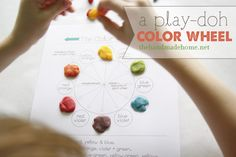 Play-Doh color wheel: Fun, easy and educational activity for kids! from thehandmadehome.net