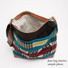 Jane Crossbody/Diaper Bag in Wool Saddle Blanket by appetite