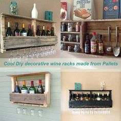 Cool Diy decorative wine racks made from Pallets