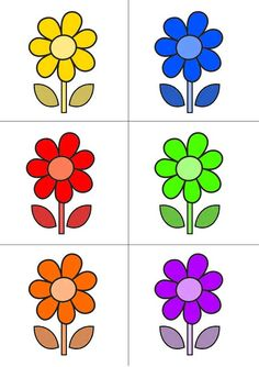 "Chasse au trésor - Carte couleurs ""Fleur 1"" Sight Word Wall, File Folder Activities, Easy Easter Crafts, Colouring Pics, Borders For Paper, Montessori Materials, Garden Theme, Preschool Worksheets, Small Flowers"