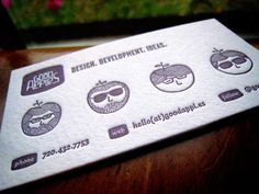 55 Awesome White Letterpress Business Cards