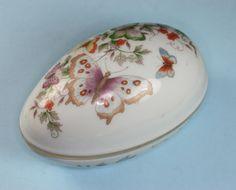 Avon Butterfly Fantasy Porcelain Trinket Vanity by PastSplendors