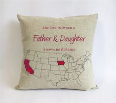 long distance father daughter pillowcase-fathers day gift from daughter-gift for dad-the love between a father daughter knows no distance