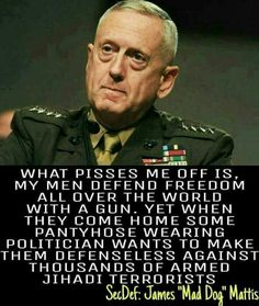 I am glad this man is our Secretary of Defense.....2017.....