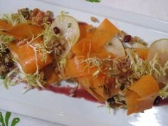 Chef Casey Overton's Raw Pumpkin Salad at Loft at Montage Laguna Beach. You can make it with butternut squash instead if you like. Great textures and flavors. Thumbs up! Laguna Beach Restaurants, Montage Laguna Beach, Yummy Recipes, Yummy Food, Pumpkin Salad, Breakfast Cafe, Butternut Squash, Coffee Shop, Loft