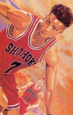 "Inoue-san is an ace in both manga and realistic styles - here's the latter // Takehiko Inoue / 井上雄彦 — ( 1990 – 1996 ) ""Slam Dunk"" / ""スラムダンク"" Illustration [ Ryota Miyagi / 宮城 リョータ , Hanamichi Sakuragi / 桜木 花道 ] Slam Dunk Manga, Comic Manga, Anime Comics, Manga Art, Anime Manga, Manga Drawing, Akiba Kei, Inoue Takehiko, Chef D Oeuvre"