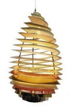 'Spiral' lamp designed by Poul Henningsen #Danish #DanishDesign