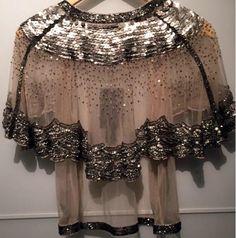 Biba - Veste de Soirée - Voile Transparent et Sequins